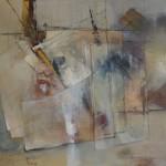 tableau assez figuratif à la lisiere de l'abstraction dans ambiance très moderne