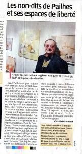 article de la provence à propos du peintre René Pailhès