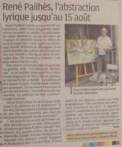 René Pailhès expose aux galeries éphémères de Martigues - Août 2016
